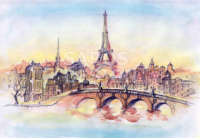 Как нарисовать париж