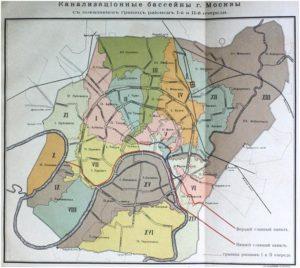 Карта канализации Москвы