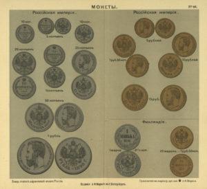 Российская империя 1907 года в картах и инфографике. Монеты Российской империи.