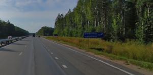Поворот на Новгород из Москвы