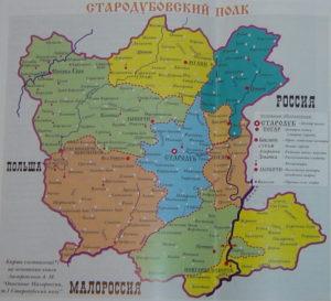 Карта Стародубского полка